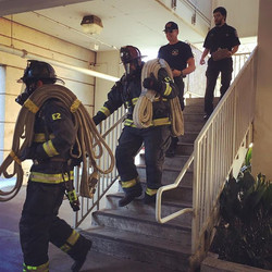 Going through one of the stations for the Air Aware training taking place this week at _ucdavisfire
