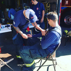 Checking vitals before and after the drill