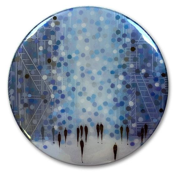 City Lights Art Button