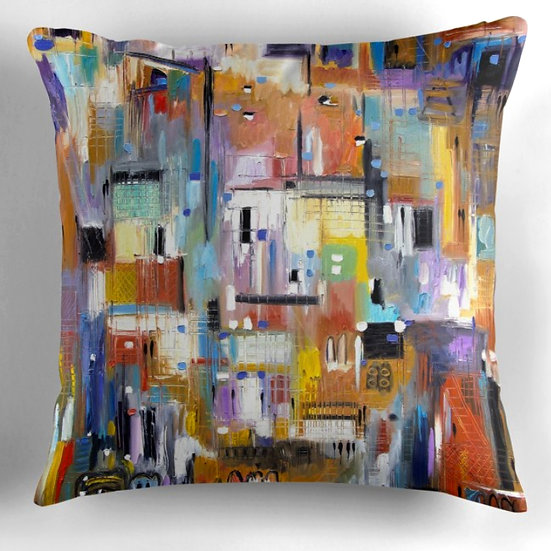 """A Day at the Museum"" Throw Pillow"