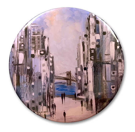 Brooklyn Bridge Art Button