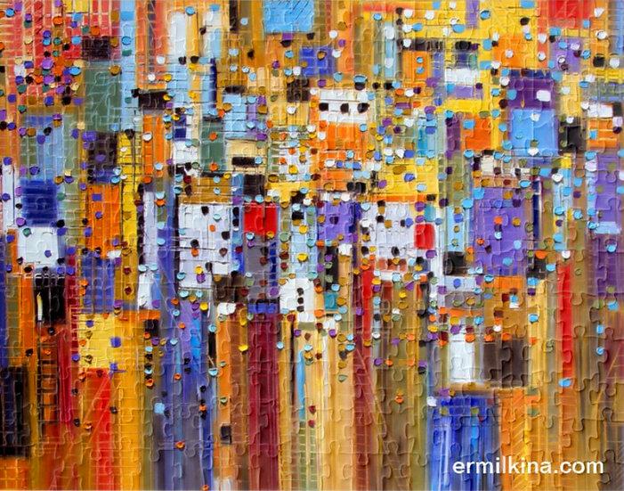 Colorful City Puzzle