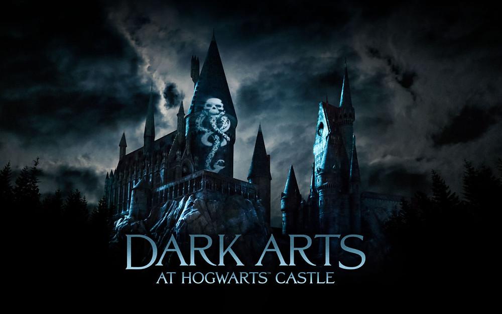 """""""Dark Arts at Hogwarts Castle"""" - A nova projeção do castelo do Harry Potter"""