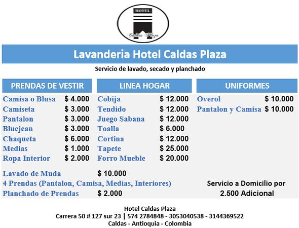 Lavanderia Hotel Caldas Plaza Antioquia
