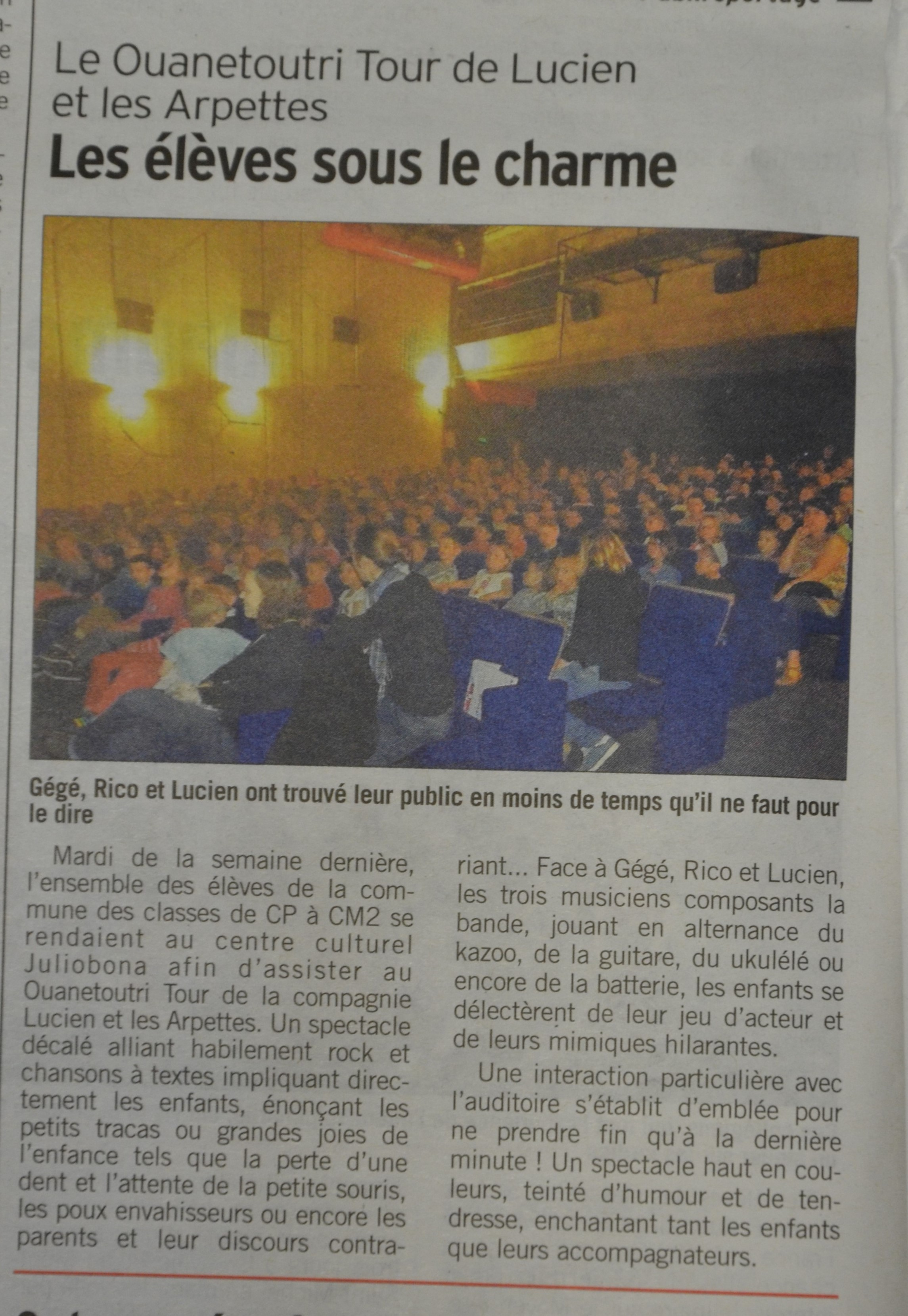 Lucien et les arpettes_article 22 mai