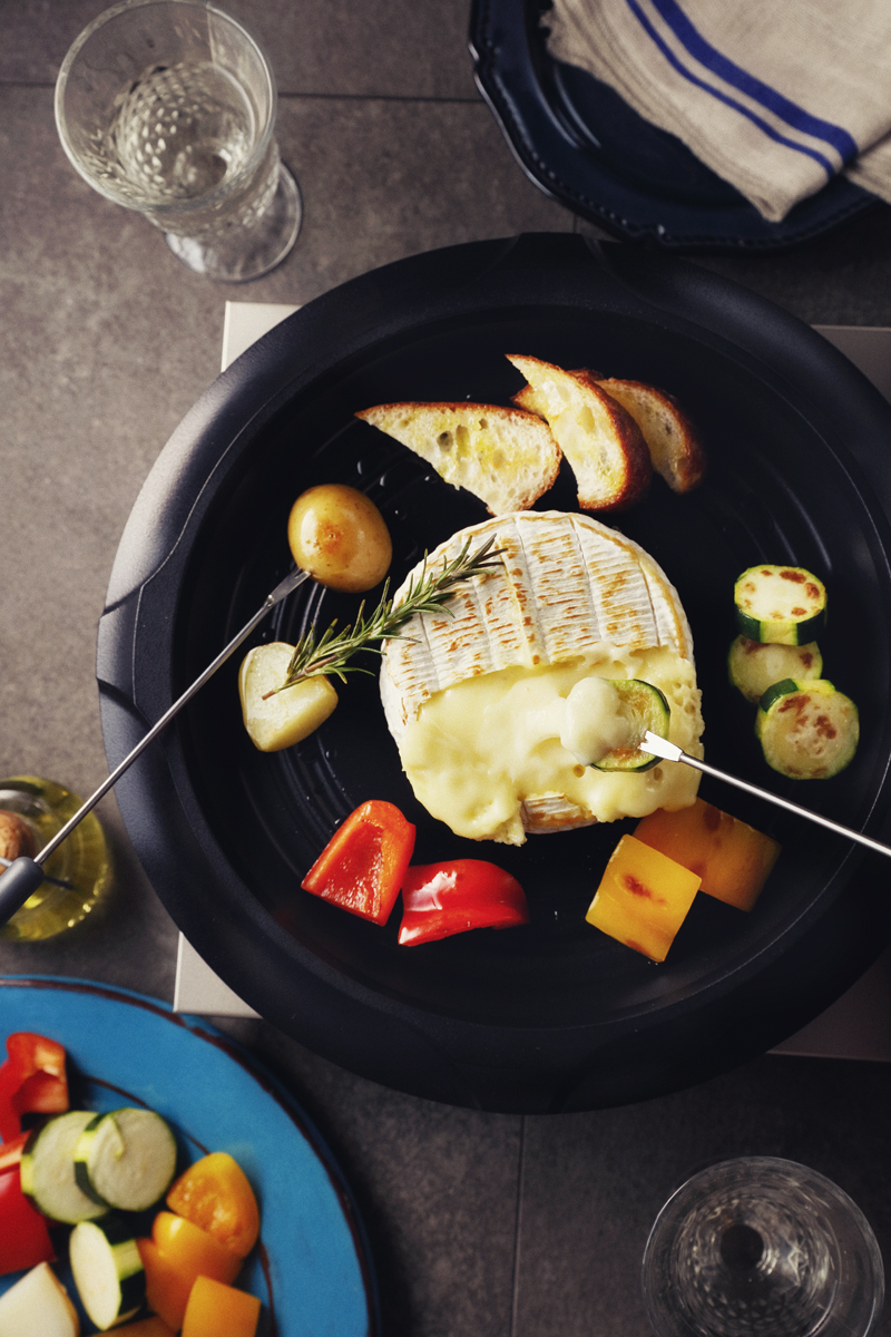 Camembert Fondue of Mixed Vegetables