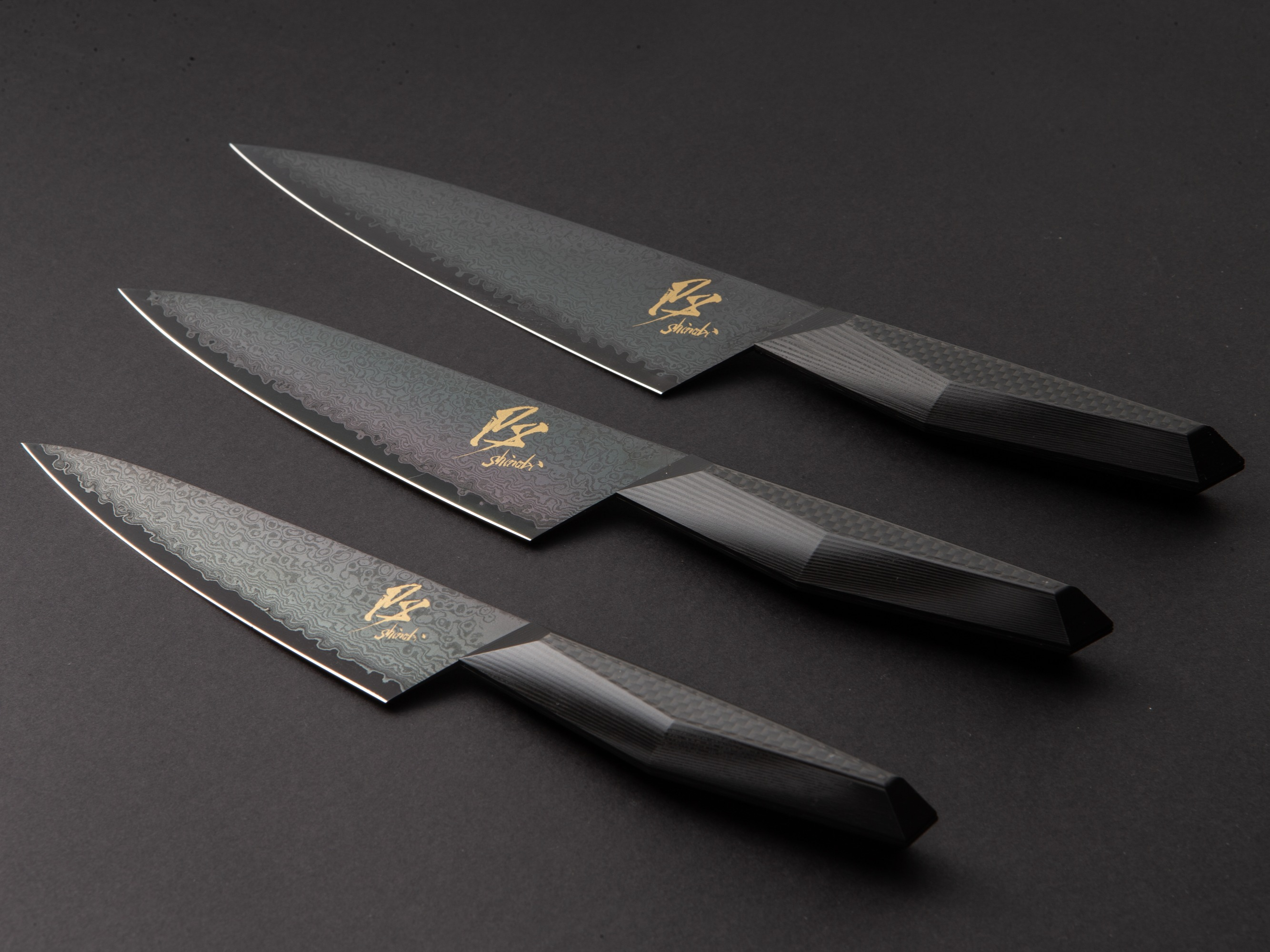 SHINOBI / CARBON DUMASCUS KNIVES