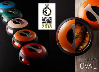 Anaori Carbon POT 『OVAL』が国際デザイン賞 GERMAN DESIGN AWARD 2018 WINNERを受賞!