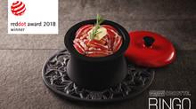 ANAORI CARBON COCOTTE『RINGO』が世界三大デザイン賞『red dot award 2018 winner』(ドイツ)を受賞し二年連続受賞達成!