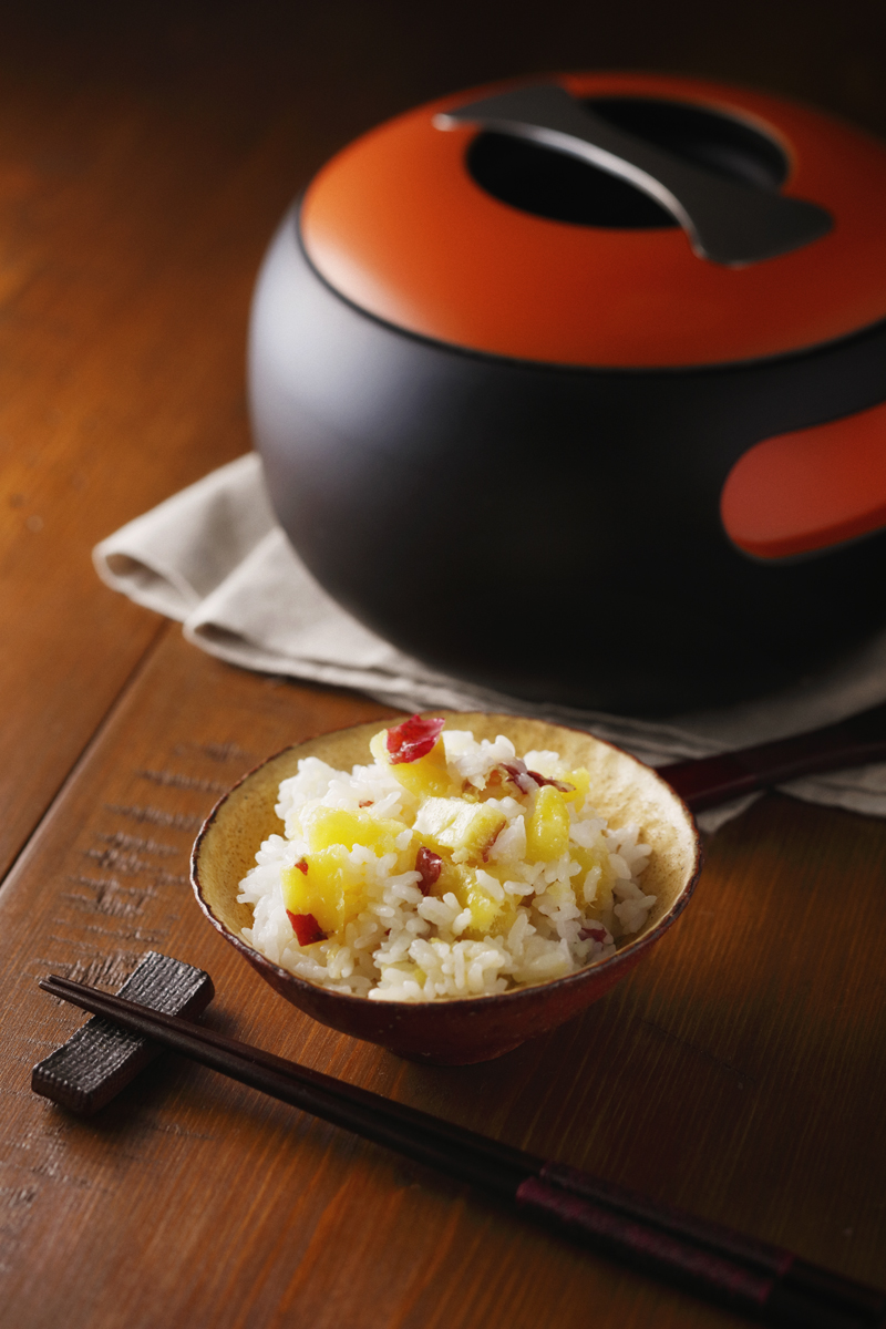 Buttered Rice with Whole Sweet Potat