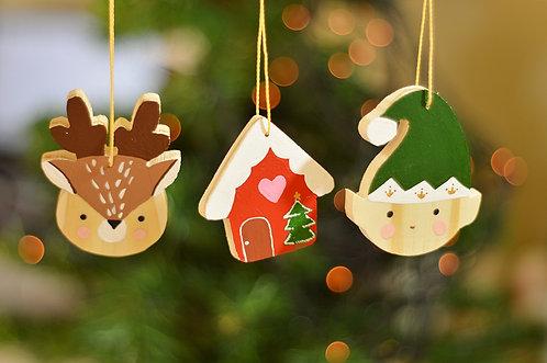 Peças natalinas - Pintadas à mão