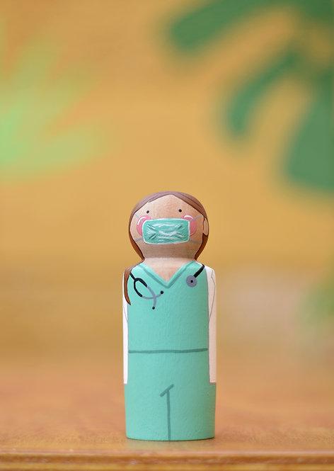 Enfermeira/médica - PegDoll