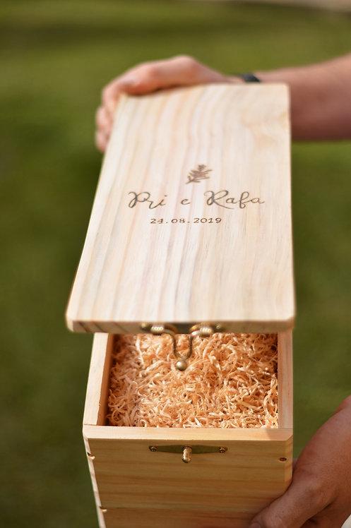 Caixa para cerimônia do vinho - Com fecho