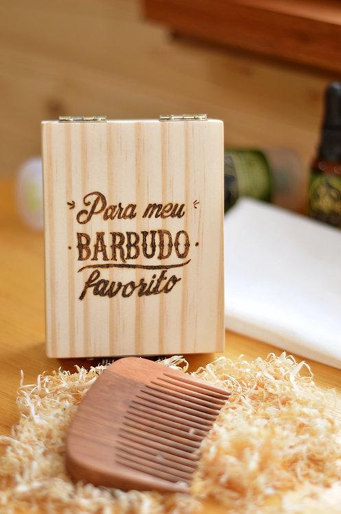 Pente para barba - Com Caixa personalizada