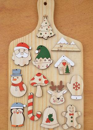 Kit natalino - Pintado à mão