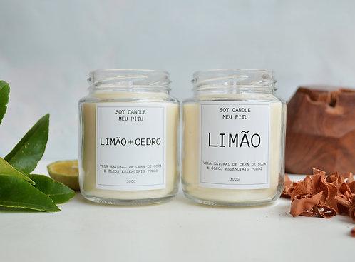 Vela de Limão + Vela de Limão e Cedro