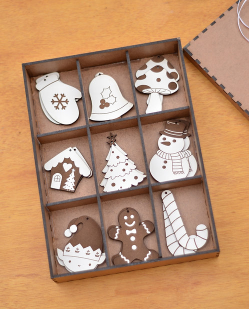 Caixa natalina - Kit Biscoito