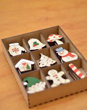 Caixa natalina - Kit pintado à mão