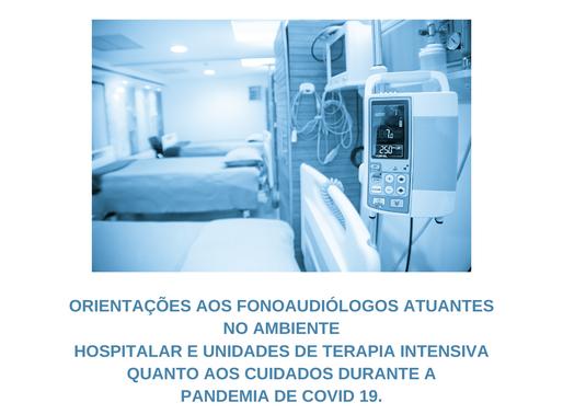 A importância do fonoaudiólogo no combate ao COVID-19