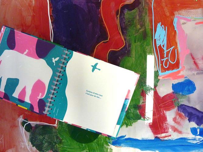 """Album """"Amimaux"""": peinture sur plexi"""