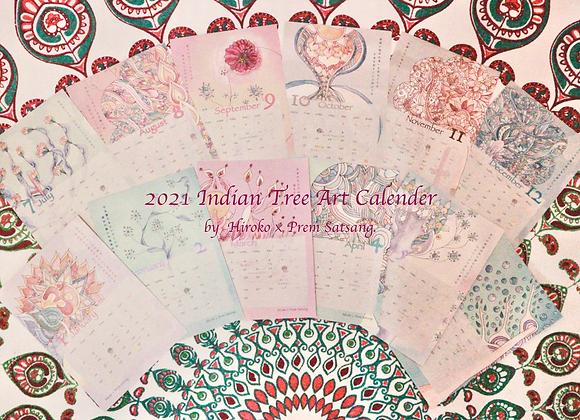 2021 India Tree Calender by Hiroko×Prem Satsang.