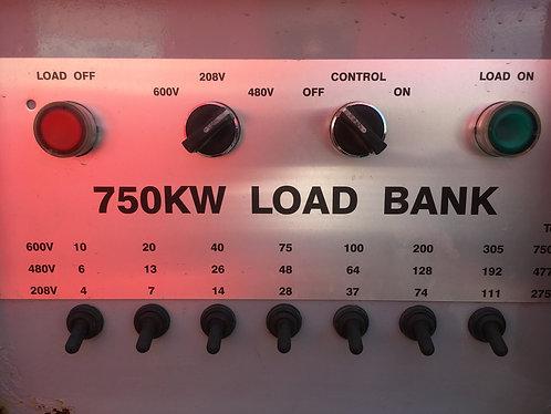 Rental Loadbank, 750kW Resistive