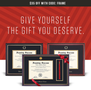 Herff Jones Diploma Frame Holiday Email Design