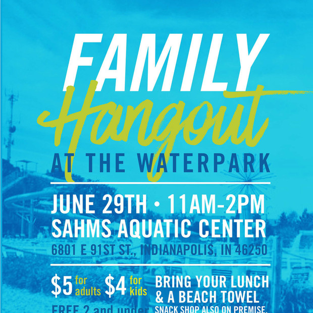 Family Hangout At the Waterpark Postcard