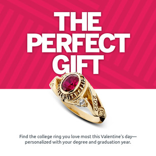Herff Jones Valentine's Day College Ring Email Design