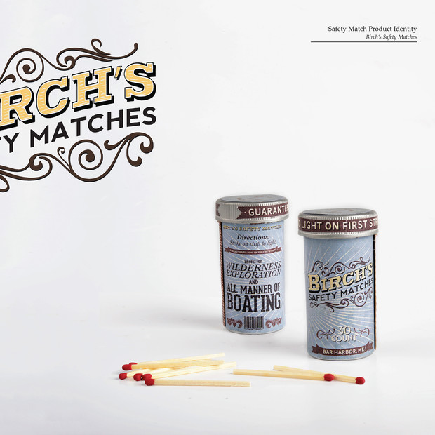 Birch's Matches Logo and Packaging