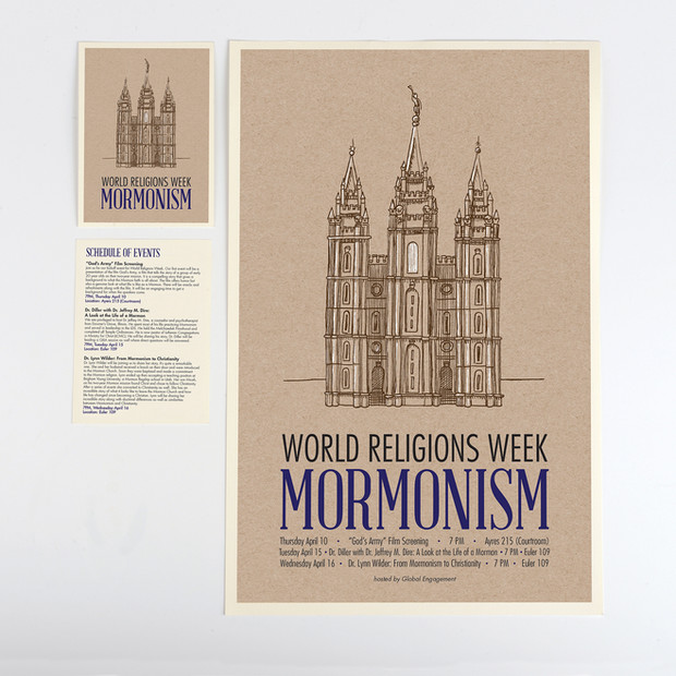 World Religions Week Poster and Program Promotion