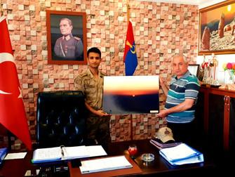 Kahta İlçe Jandarma Komutanına Ziyaret