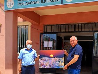 NEFSAD BAŞKANINDAN ADIYAMAN YAYLAKONAK ORTAOKULU'NA  ZİYARET