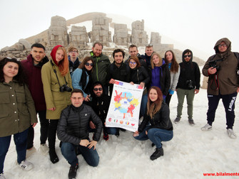 Erasmus Öğrencileri Nemrut Dağı Milli Parkında