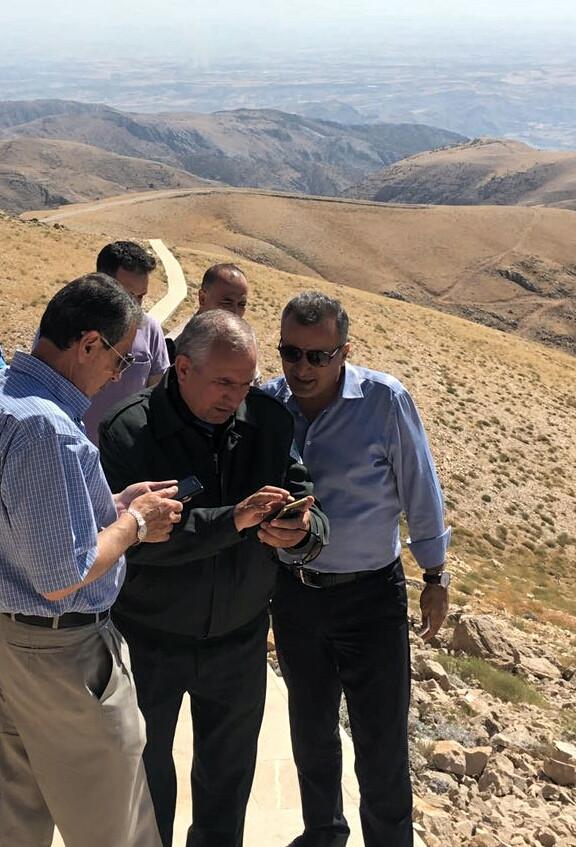 Adıyaman Valisi Nurullah Naci Kalkancı Nemrut Dağı milli parkını gezip incelemelerde bulundu.