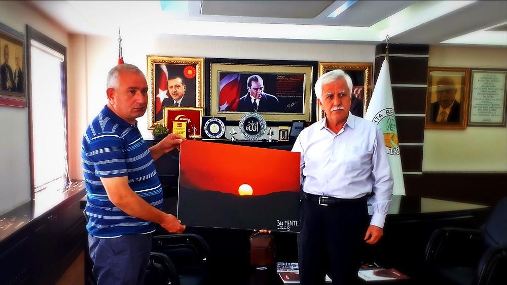 Kâhta Belediye Başkanı Sayın Abdurrahman Toprak'a  Ziyaret
