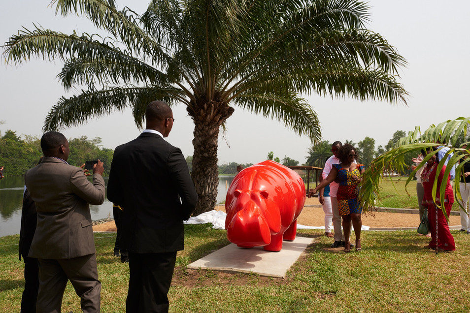 hippo-sculpture-inauguration-africa-nino