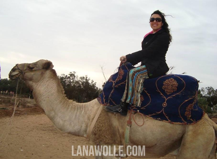 Lana Wolle en Camello.  Artesanía en Marruecos