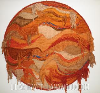 """Tapiz Circular: """"Más allá de la Tierra"""" ·  Análisis de una Obra Textil ·Técnicas"""