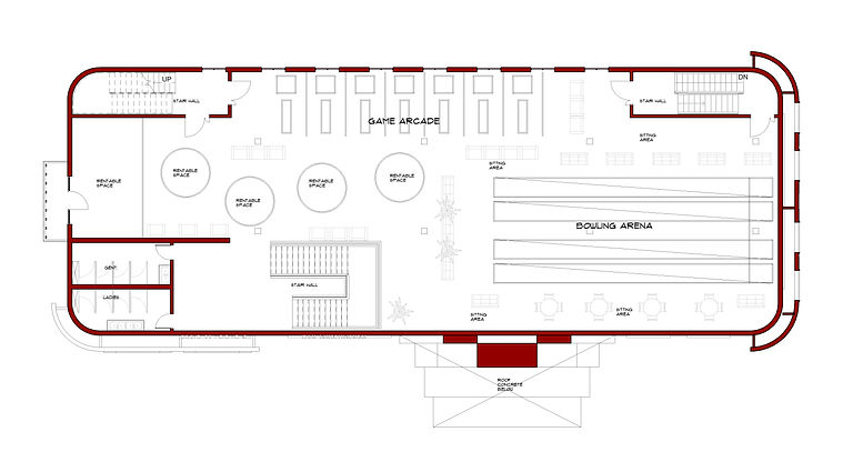 Film house - Floor Plan - 04 Pent Floor