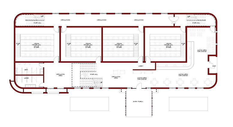 Film house - Floor Plan - 02 Ground leve