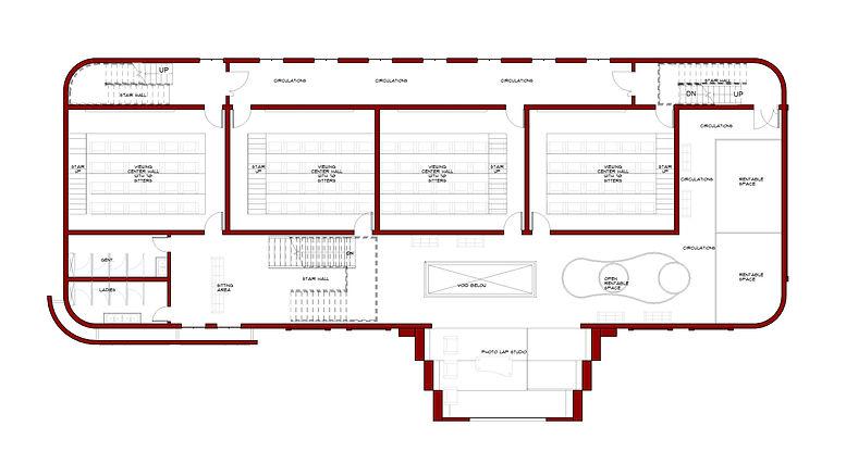 Film house - Floor Plan - 03 First floor