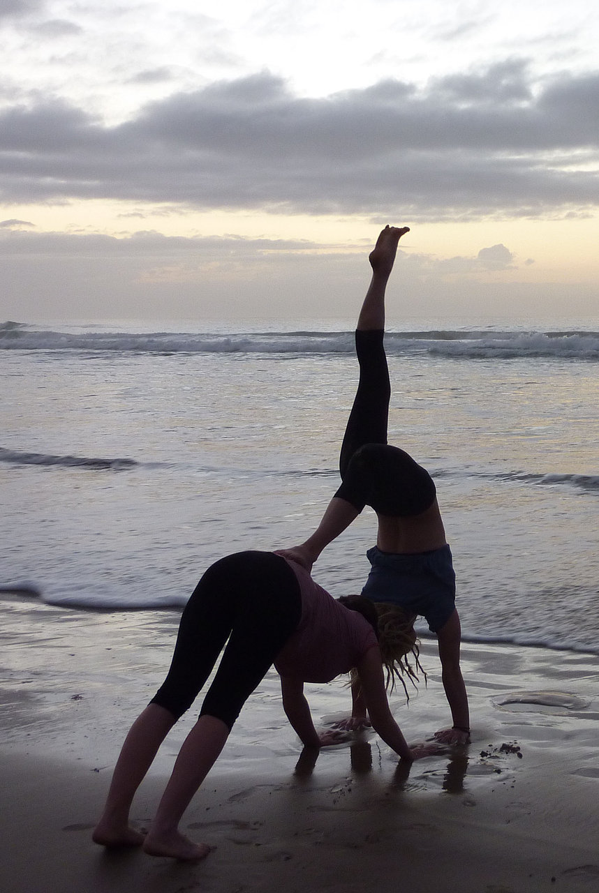 Fun Beach Yoga