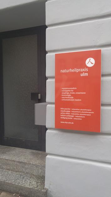 Eingang Naturheilpraxis Ulm