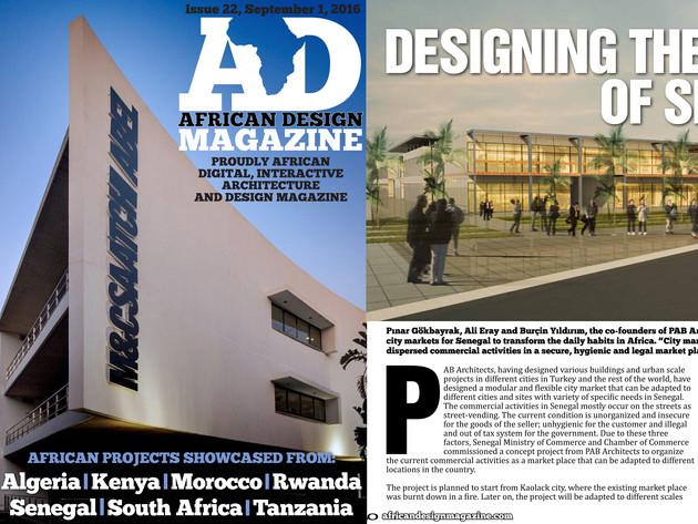 AD African Design Magazine, Eylül 2016