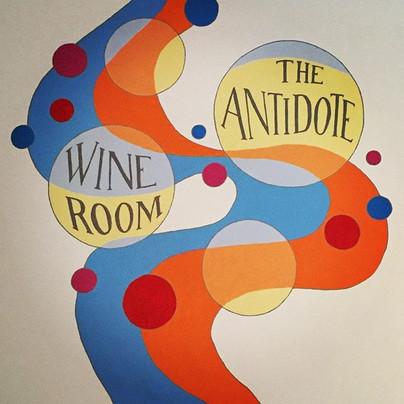 The Antidote bar mural
