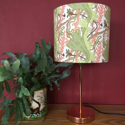 seaweed garden green&coral lampshade