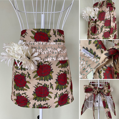 red rhododendrons utility apron