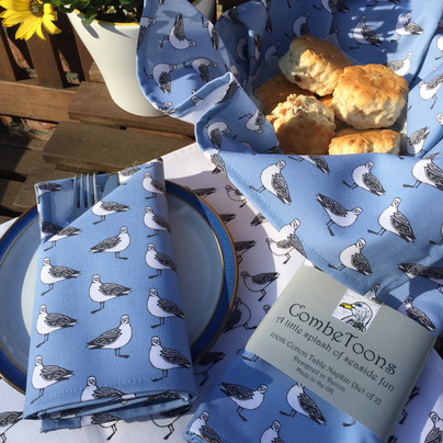 greedy gullie blue fabric range