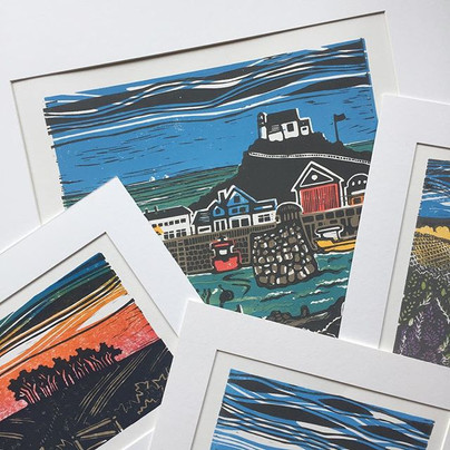 Selection of original lino cut prints